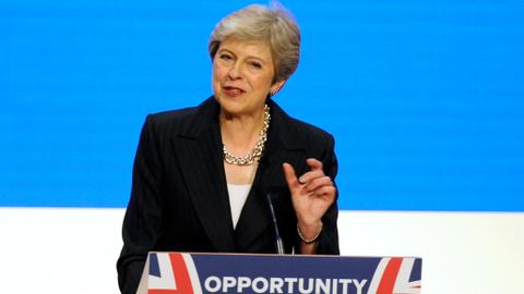 May appeals for party unity at 'toughest phase' of Brexit