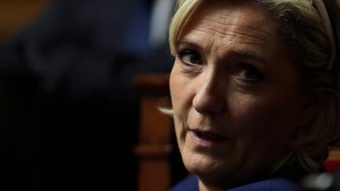 Marine Le Pen denies knowingly making white supremacist gesture