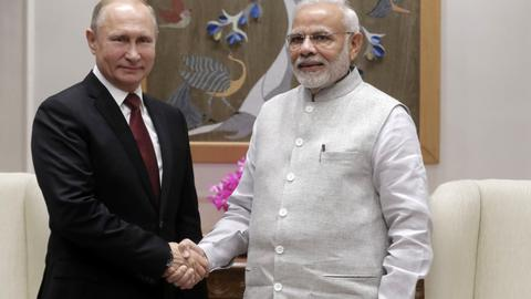 US and China monitor India as Putin arrives in New Delhi seeking arms deals