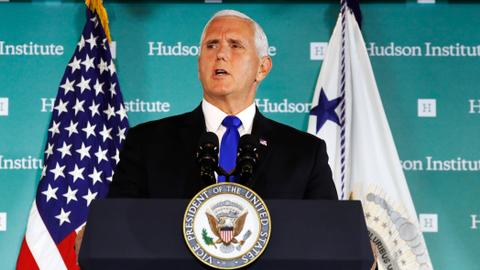 Pence accuses China of 'malign' campaign to undermine Trump