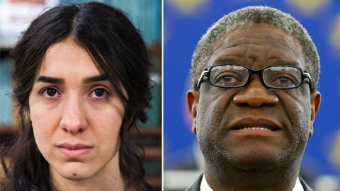 Iraq's Murad and Congolese Mukwege win 2018 Nobel Peace Prize