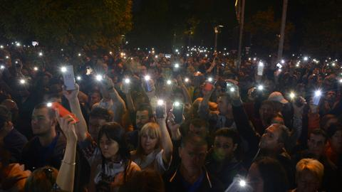 Protests overshadow party rallies ahead of Bosnia vote