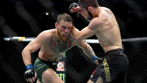 UFC: Massive brawl as Nurmagomedov scores submission win over McGregor