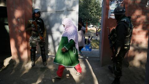 Elections for Kashmir councils held amid anti-India strike
