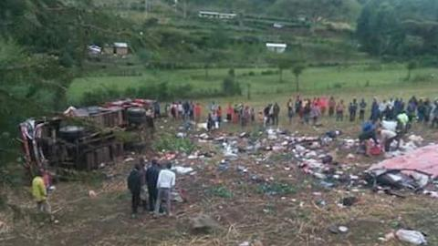 At least 50 die in Kenya bus crash