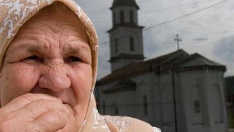 Bosnian widow fights to have Serbian church moved from her land