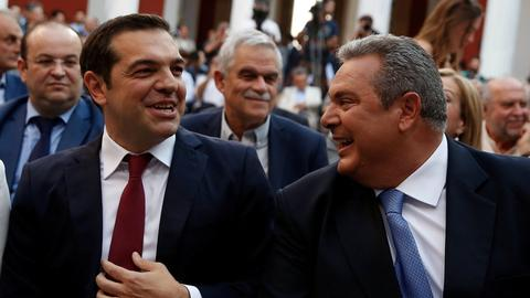 Greek coalition ally threatens to quit if Macedonia deal goes to parliament