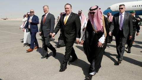 Pompeo arrives in Saudi Arabia for talks over missing journalist