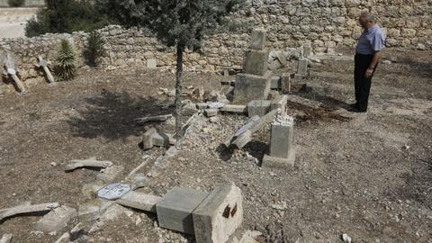 Christian graves desecrated in central Israel