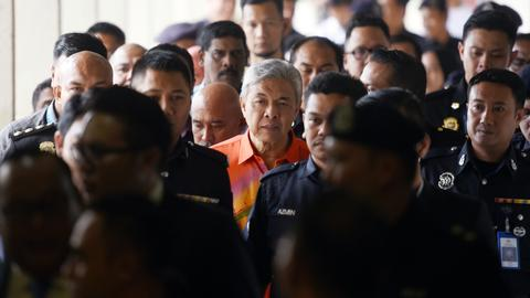 Malaysian ex-deputy PM charged with money laundering and graft
