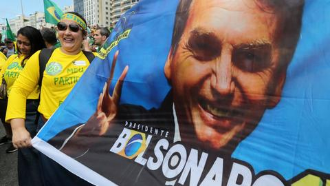 Brazil's far-right presidential candidate leads polls