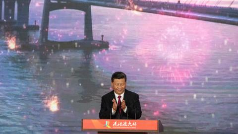 China's Xi launches Hong Kong-mainland mega bridge