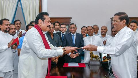 Sri Lanka president sacks prime minister, appoints strongman