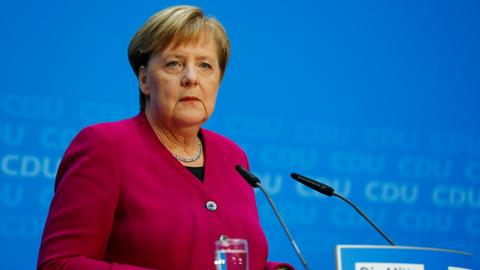 Germany's Merkel says she won't seek re-election as CDU party chair