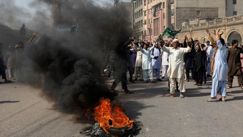 Pakistan PM Khan calls for calm as protests erupt after blasphemy verdict