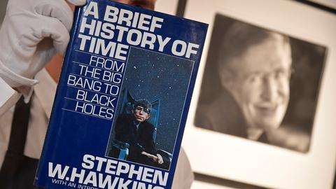 Stephen Hawking's thesis, wheelchair heading for auction