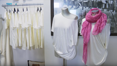 Italian designer turns milk waste into wearable fabric