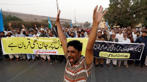 Protests continue for second day after woman acquitted of blasphemy