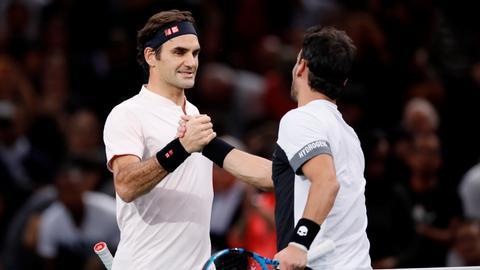 Roger Federer begins bid for 100th career title at Paris Masters