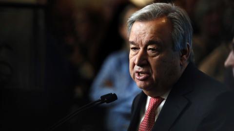 New UN chief Guterres stresses