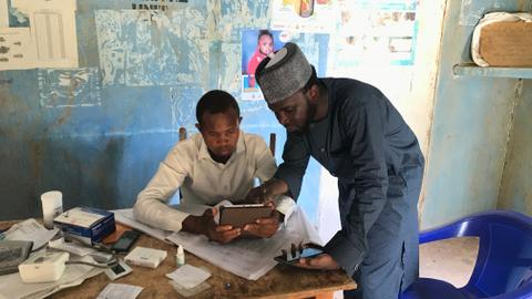 Tablets and satellite technology improve health services in rural Nigeria