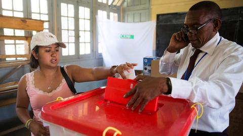 Vote count begins as Madagascar chooses president
