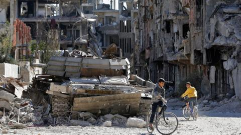 How displaced Palestinians struggle to live in war-torn Syria