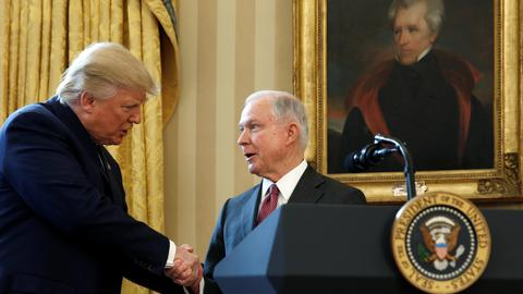 Is there a link between the sacking of Jeff Sessions and the Russia probe?