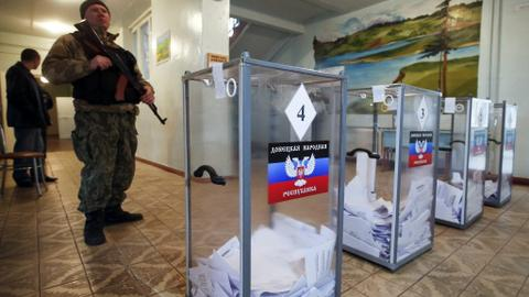Kiev and West slam elections in separatist-ruled Ukraine cities