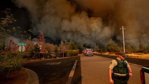 Death toll from California wildfires rises to 48