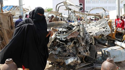 Death toll from Somalia bombings jumps to 41 – police