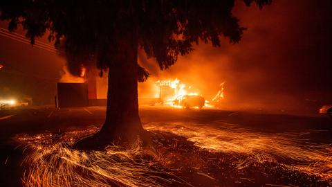 In pictures: Paradise lost as fire consumes California town