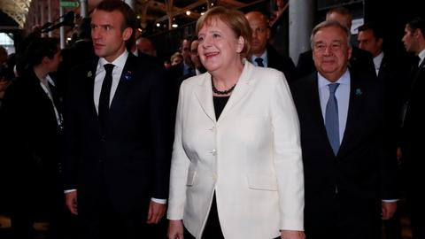 Macron, Merkel, UN chief target Trump's world view