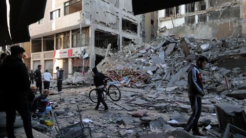 Three Palestinians killed as Israeli air strikes target Gaza