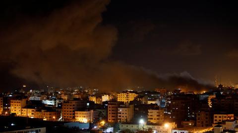 In pictures: Israeli strikes threaten new Gaza war