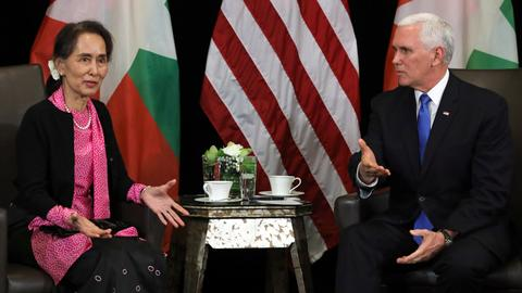 Pence tells Suu Kyi persecution of Rohingya 'without excuse'