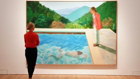 Hockney sets living artist record with $90 million sale