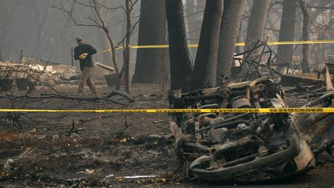 More than 60 dead in California fires with hundreds still missing
