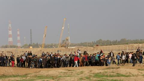 Thousands attend Hamas rally near Gaza border with Israel