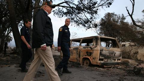 Death toll soars to 76 in California fire as Trump surveys devastation