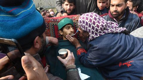 Kashmir gun battle, protests leave at least eight dead