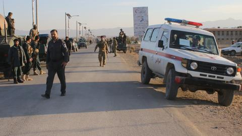 Taliban attack on police convoy kills at least 22 in Afghanistan