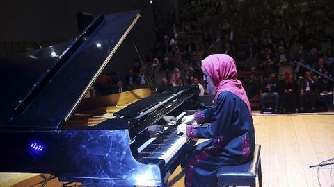 After rescue, Gaza's only grand piano makes public comeback