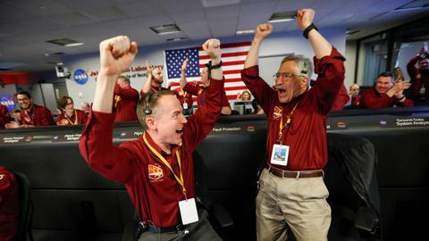 NASA celebrates InSight's landing on Mars