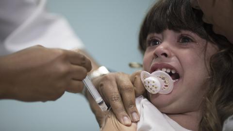 Measles cases soar in Brazil and Venezuela, UN agency says