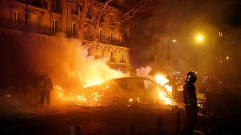 In pictures: mayhem in Paris