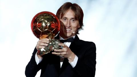 Croatia's Luka Modric wins Ballon d'Or award for the first time