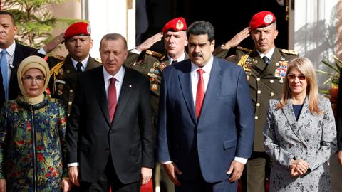 Turkey's Erdogan visits Venezuela, vows to enhance ties