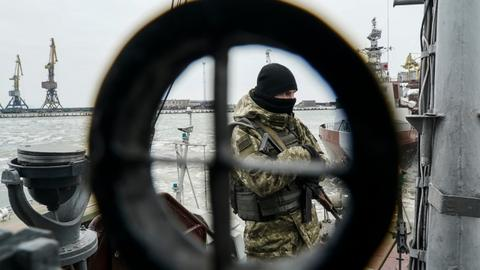 Ukraine says shipping traffic resumes amid NATO foreign ministers meeting