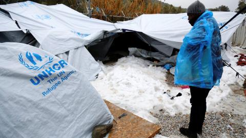 Cold European weather leaves refugees in dire situation
